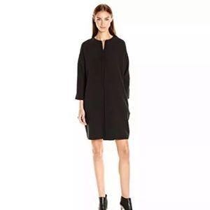 NWT VINCE. Black Front Seam Zipper Dress Size M